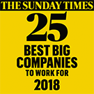 Sunday Times top 25 Best Big Companies to work for